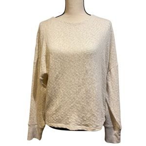 Anthropologie Off White Crewneck Sweater